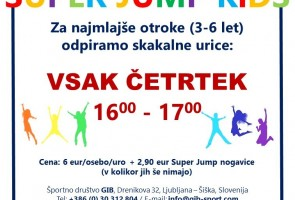 Super Jump KiDS – za otroke od 3. do 6. leta